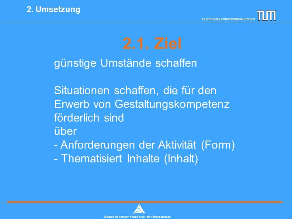 Technische Universität München Mitglied im Zentrum Wald Forst Holz Weihenstephan 2.1.