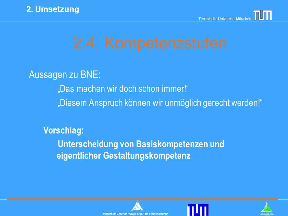 Technische Universität München Mitglied im Zentrum Wald Forst Holz Weihenstephan 2.4.