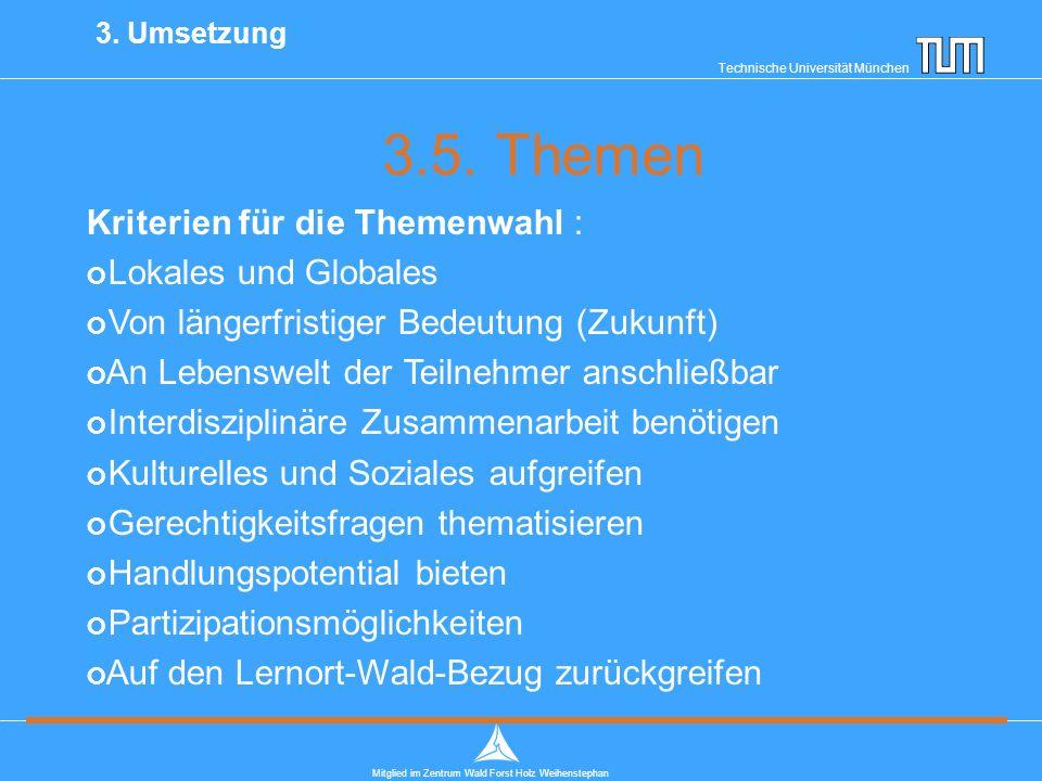 Technische Universität München Mitglied im Zentrum Wald Forst Holz Weihenstephan 3.5.