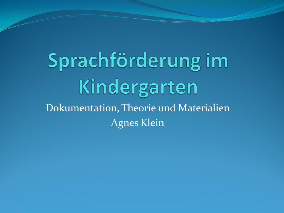 Dokumentation, Theorie und Materialien Agnes Klein