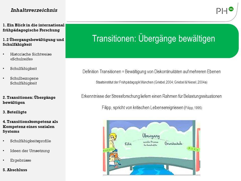 Transitionen: Übergänge bewältigen Definition Transitionen = Bewältigung von Diskontinuitäten auf mehreren Ebenen Staatsinstitut der Frühpädagogik Mün