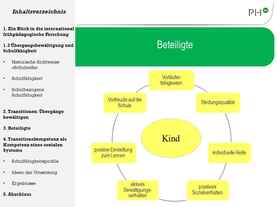 Vorläufer- fähigkeiten Bindungsqualitätindividuelle Reife positives Sozialverhalten aktives Bewältigungs- verhalten positive Einstellung zum Lernen Vo
