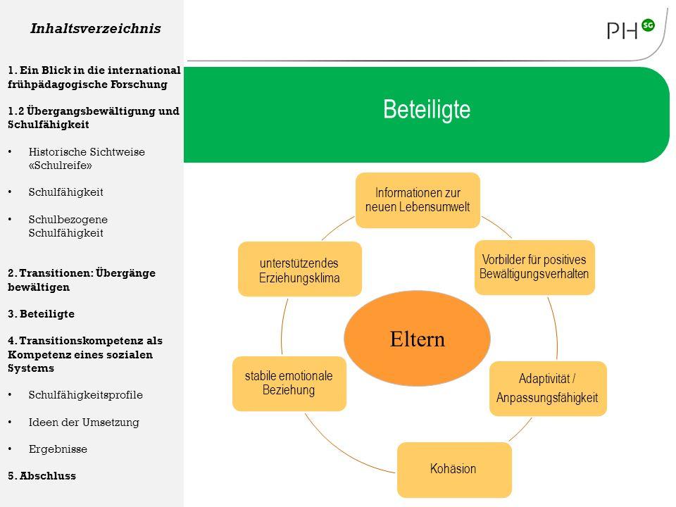 Informationen zur neuen Lebensumwelt Vorbilder für positives Bewältigungsverhalten Adaptivität / Anpassungsfähigkeit Kohäsion stabile emotionale Bezie