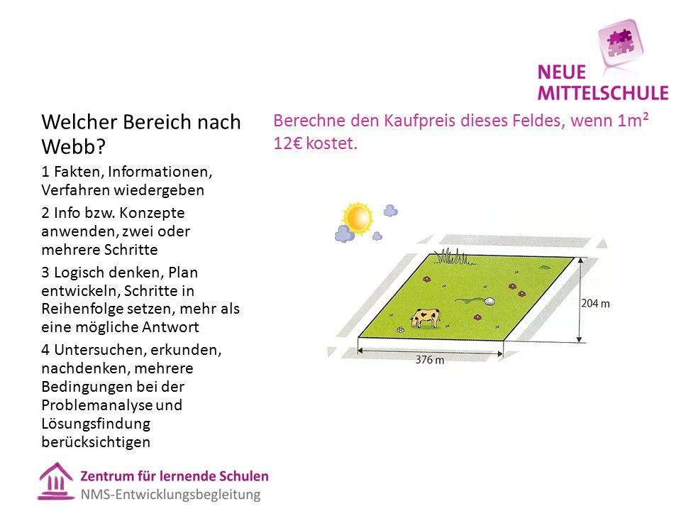 Berechne den Kaufpreis dieses Feldes, wenn 1m² 12€ kostet.