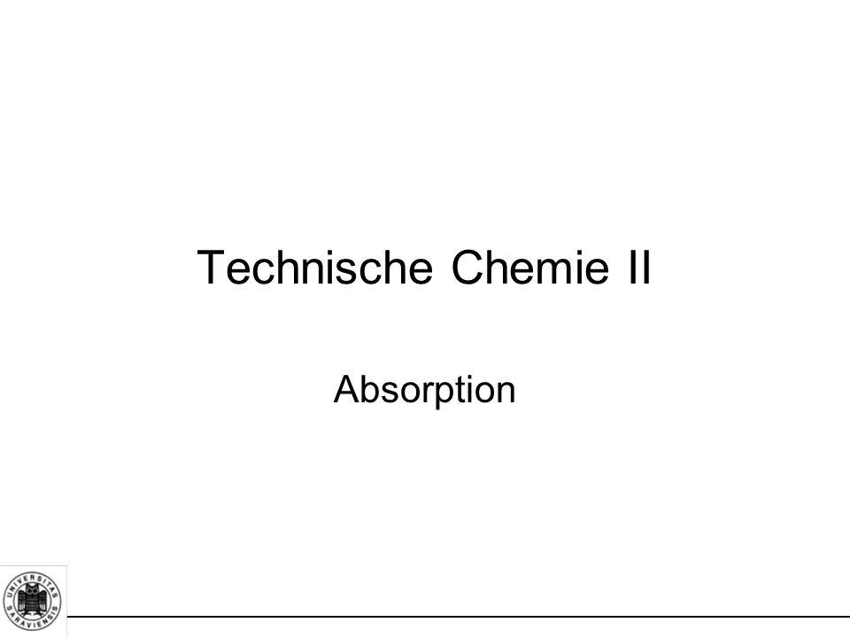 Absorption Technische Chemie II