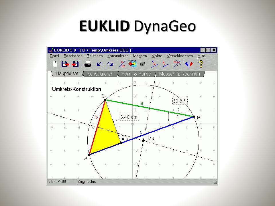 Einsatzmöglichkeiten des Tablets im Unterricht Klasse 7 Klasse 7: – Dreiecksgeometrie (GeoGebra, Euklid) – Rationale Zahlen (Taschenrechnerfunktion) – Potenzen und Zinsen (Taschenrechnerfunktion, Excel) – Relative Häufigkeit und Wahrscheinlichkeiten (Taschenrechnerfunktion, GeoGebra, Excel) – Zuordnungen (GeoGebra)