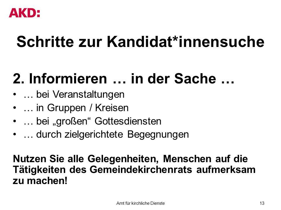 Schritte zur Kandidat*innensuche 2.