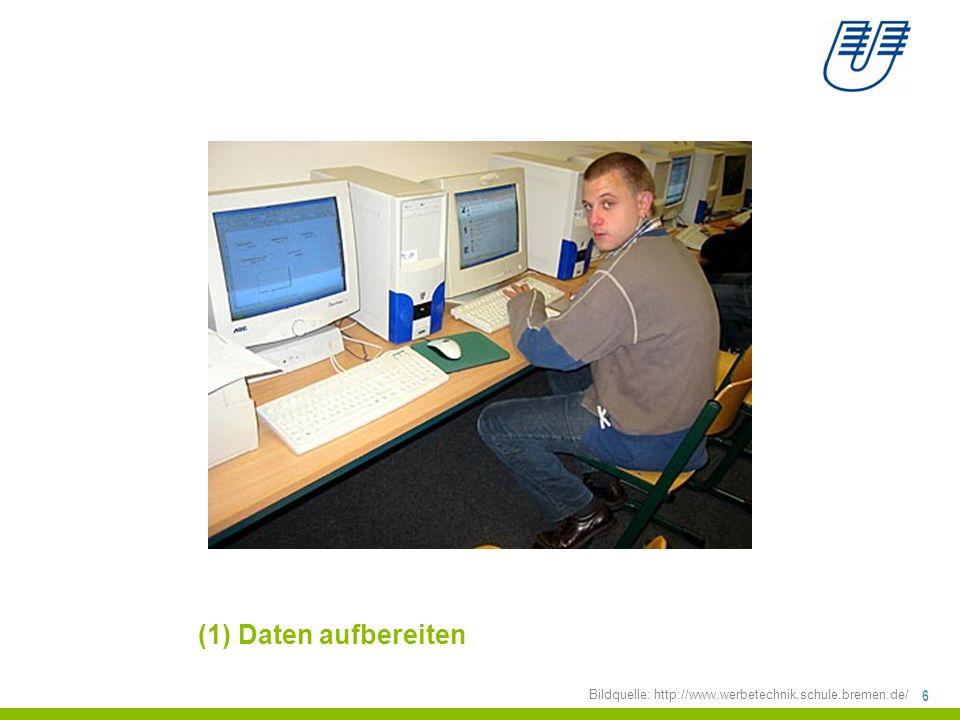 17 (2) Daten beschreiben: Deskriptive Statistiken Bildquelle: http://www.werbetechnik.schule.bremen.de/ +Darstellungformen +Lageparameter +Streuungsparameter