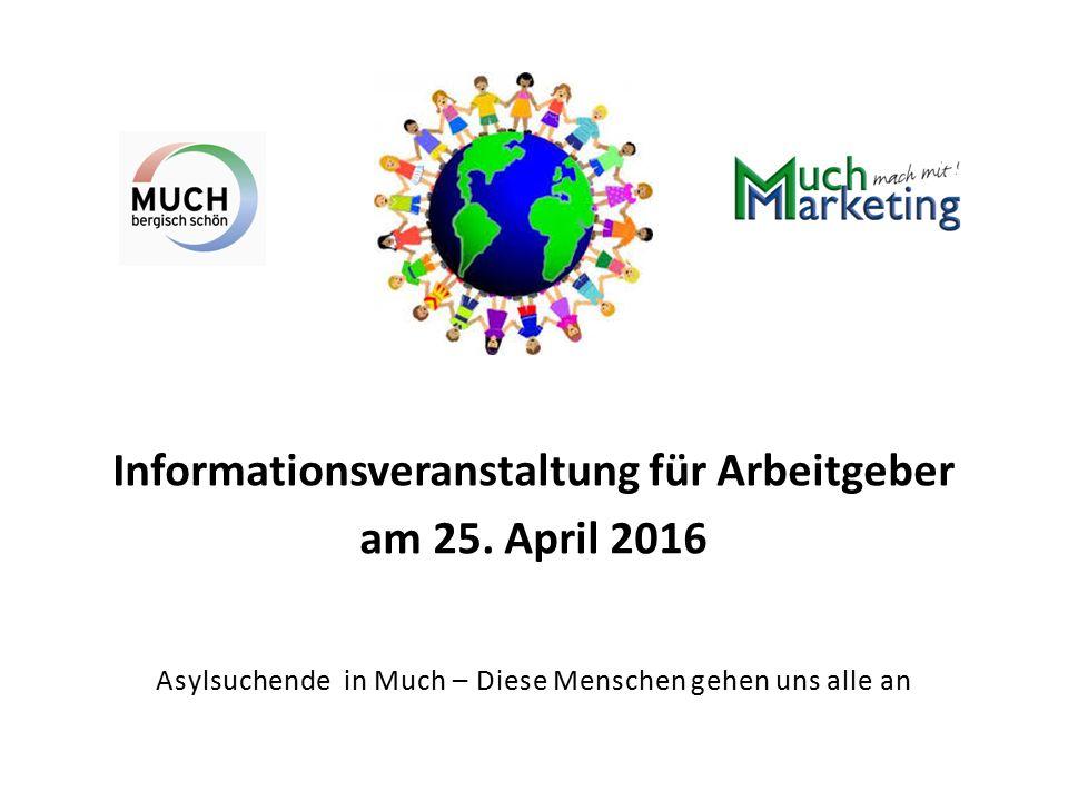 Informationsveranstaltung für Arbeitgeber am 25.