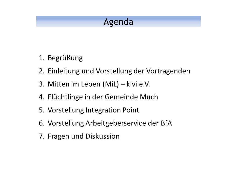 Agenda 1.Begrüßung 2.Einleitung und Vorstellung der Vortragenden 3.Mitten im Leben (MiL) – kivi e.V.