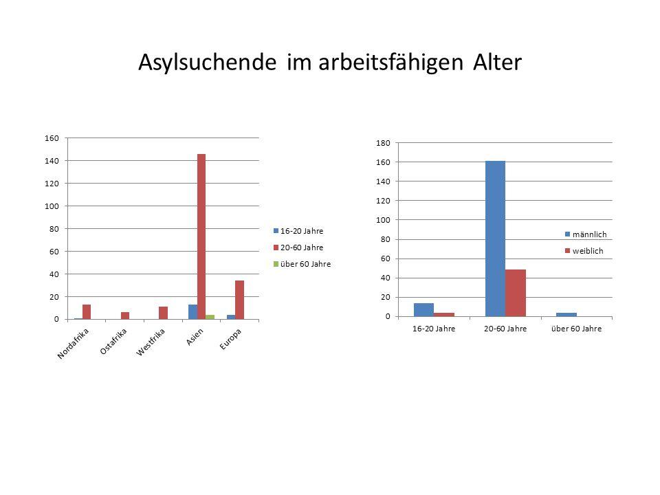 Asylsuchende im arbeitsfähigen Alter
