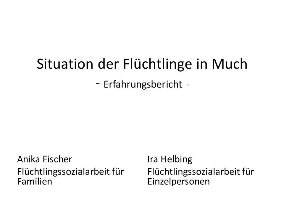 Situation der Flüchtlinge in Much - Erfahrungsbericht - Anika Fischer Flüchtlingssozialarbeit für Familien Ira Helbing Flüchtlingssozialarbeit für Einzelpersonen