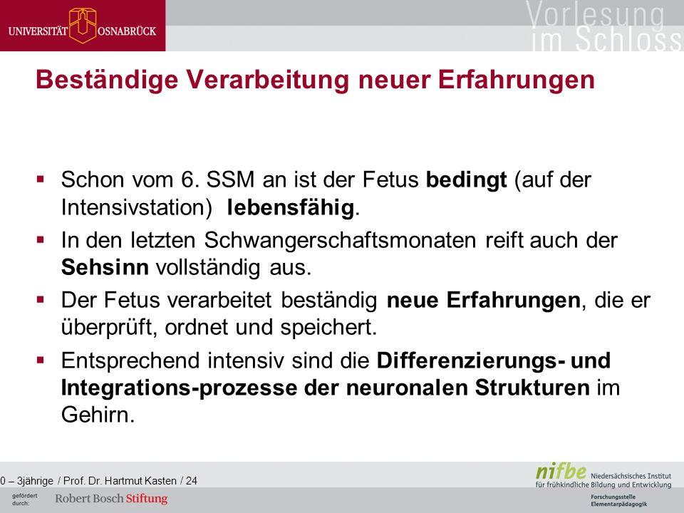  Schon vom 6. SSM an ist der Fetus bedingt (auf der Intensivstation) lebensfähig.