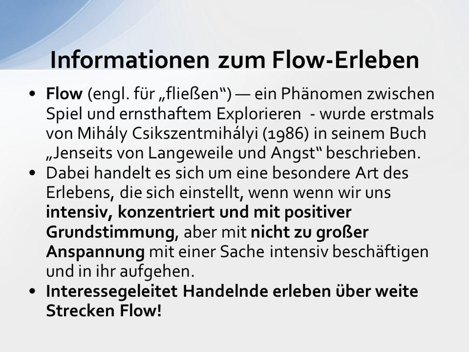Informationen zum Flow-Erleben Flow (engl.