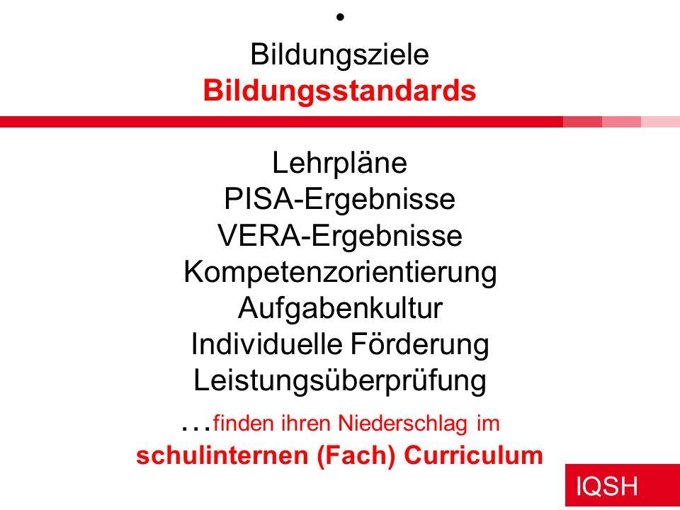 """IQSH Vorbemerkung DIE ZEIT 06.12.2007 Thomas Kerstan: Aufrecht durch PISA In Deutschland aber hat der """"PISA-Schock"""" (…) einen grundlegenden Stimmungsw"""