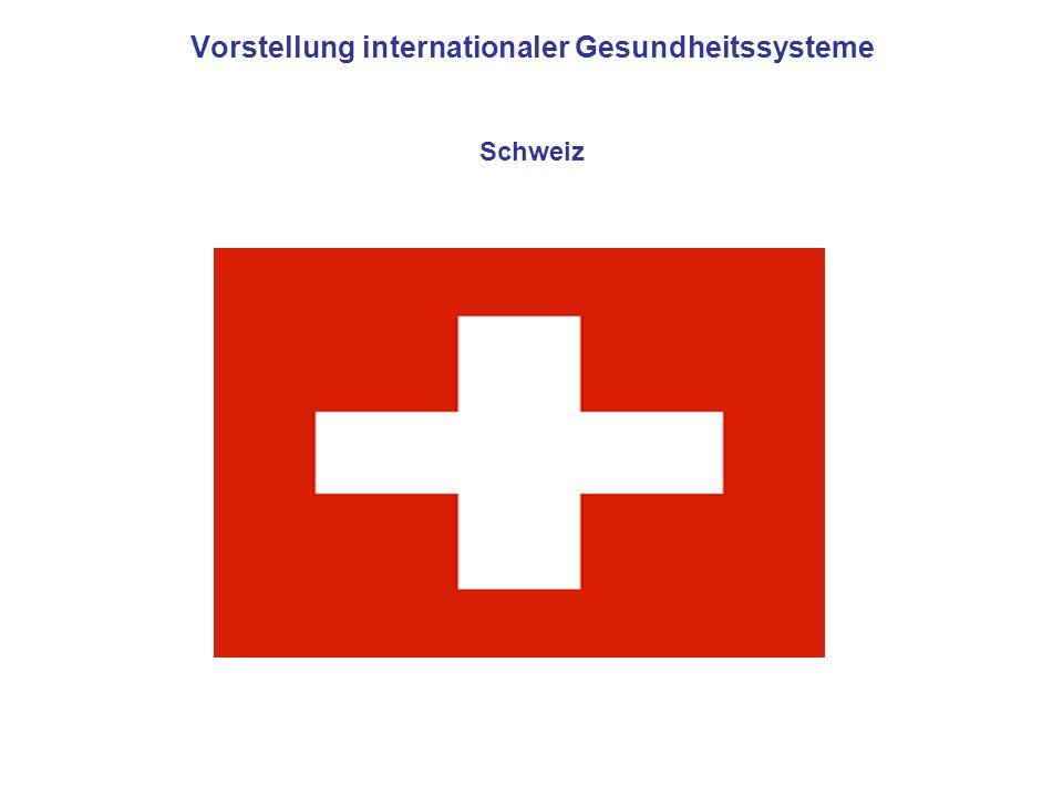 Vorstellung internationaler Gesundheitssysteme Schweiz