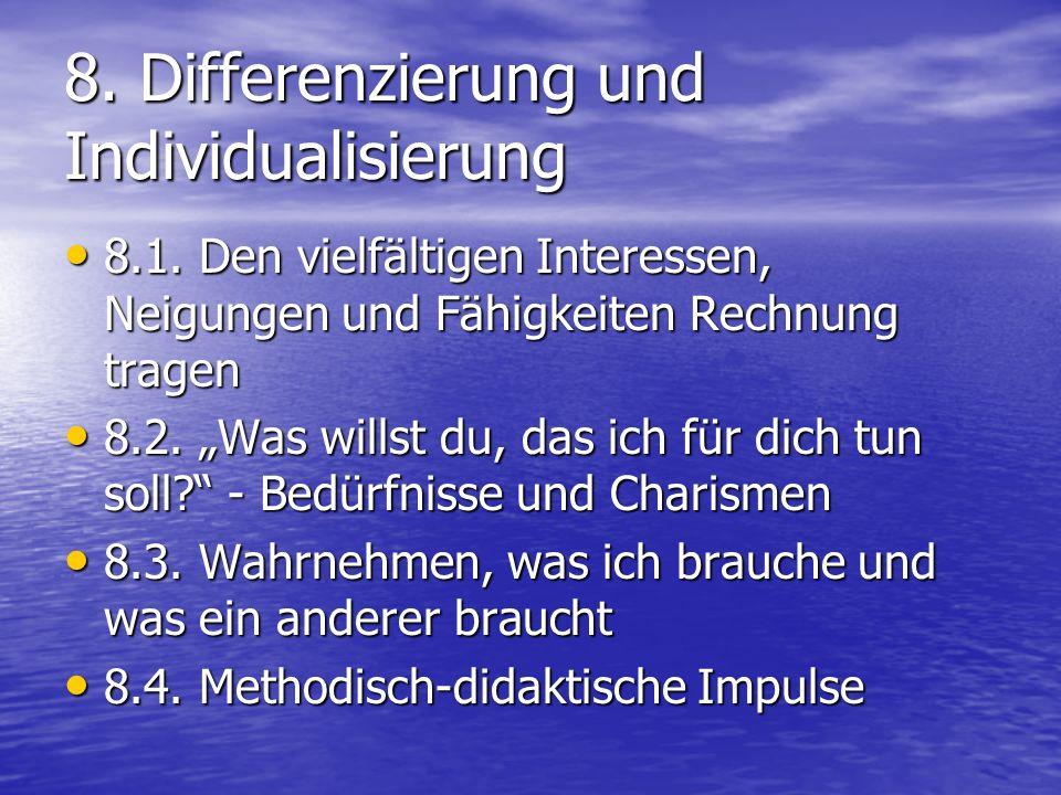 8. Differenzierung und Individualisierung 8.1.