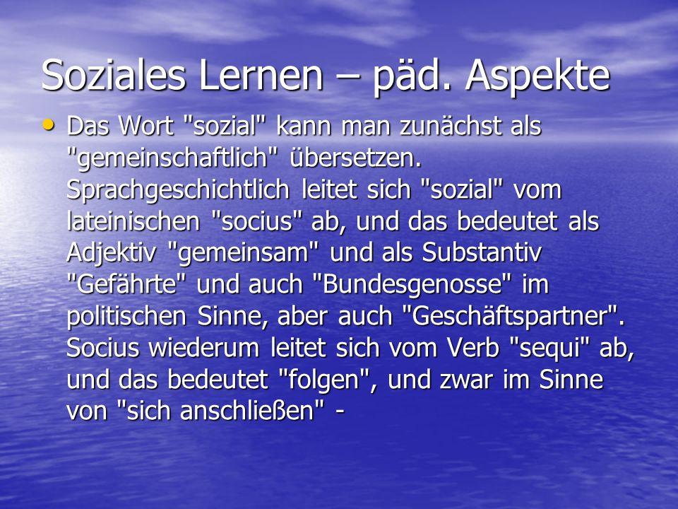 6.Konzentration der Bildung - Das Prinzip des Exemplarischen 6.1.
