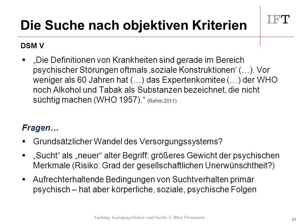 """Die Suche nach objektiven Kriterien  """"Die Definitionen von Krankheiten sind gerade im Bereich psychischer Störungen oftmals 'soziale Konstruktionen' (…)."""