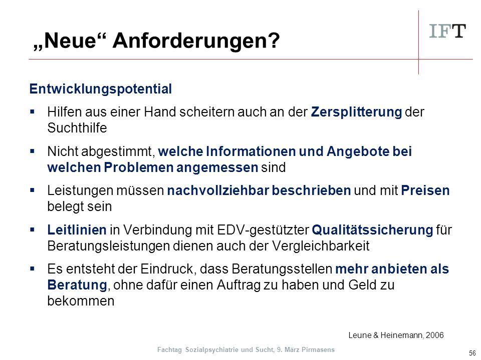 """""""Neue Anforderungen."""