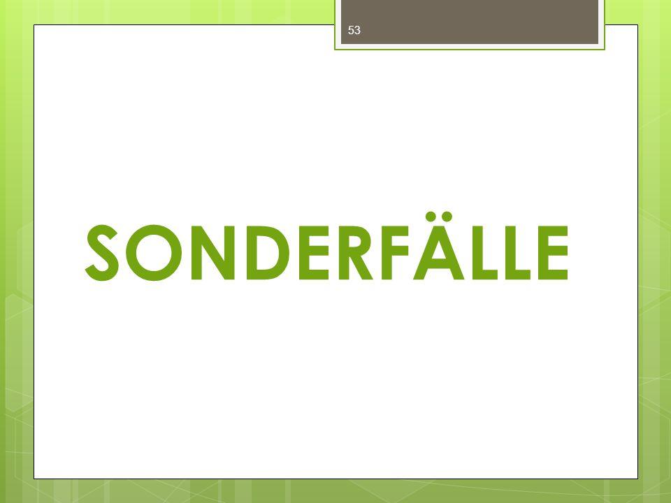 SONDERFÄLLE 53
