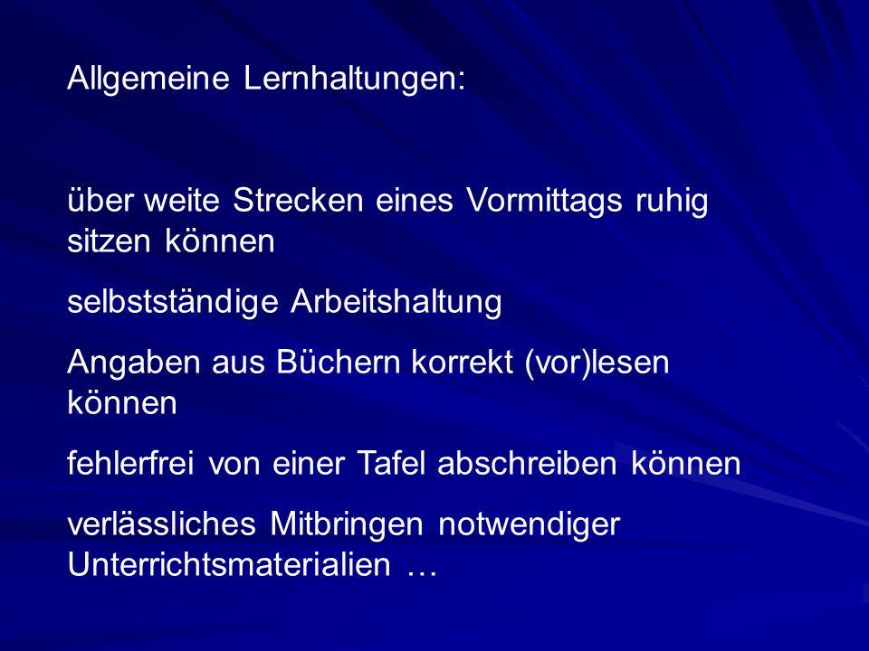 """Aufnahmevoraussetzungen In den Gegenständen Deutsch und Mathematik """"Sehr gut oder """"Gut ."""