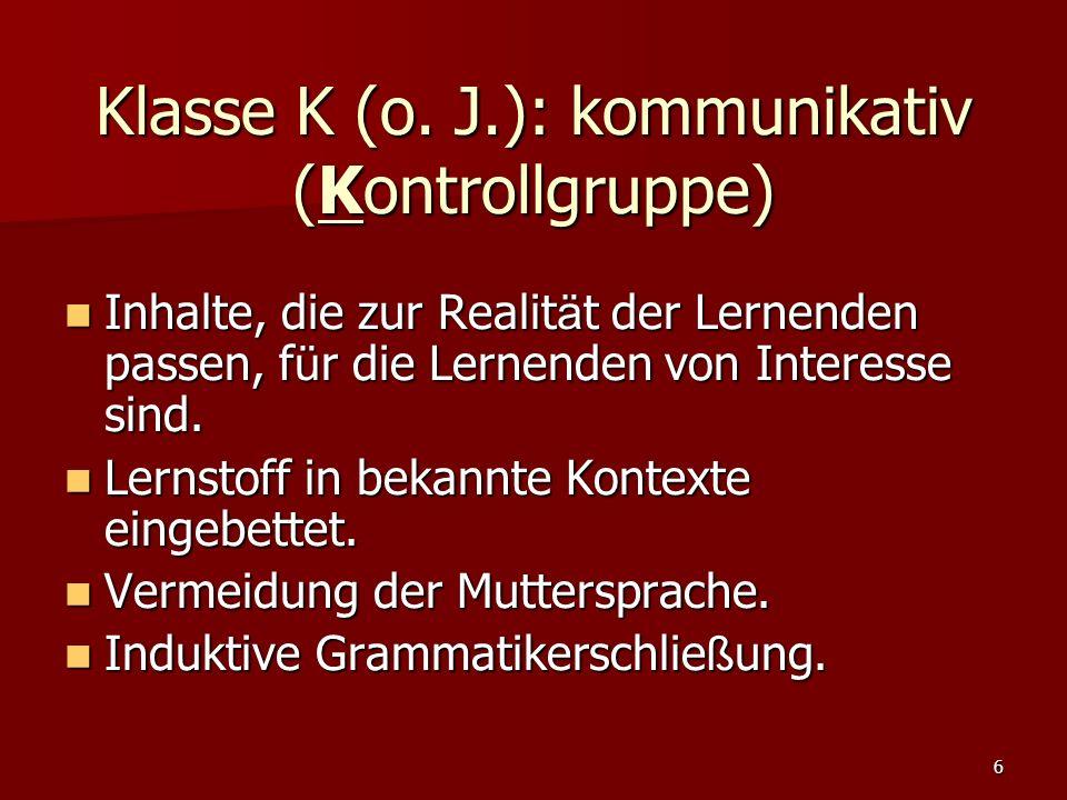 6 Klasse K (o.