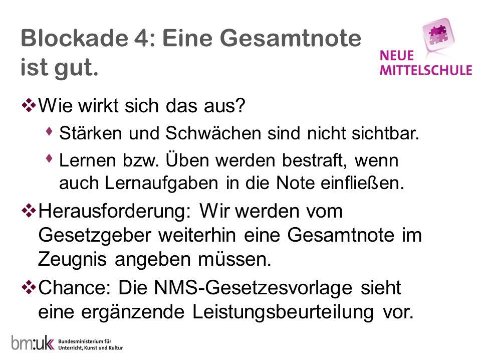 Blockade 5: Kultur einer einzigen Chance (Lehren-Prüfen-Abhaken- Weitermachen).