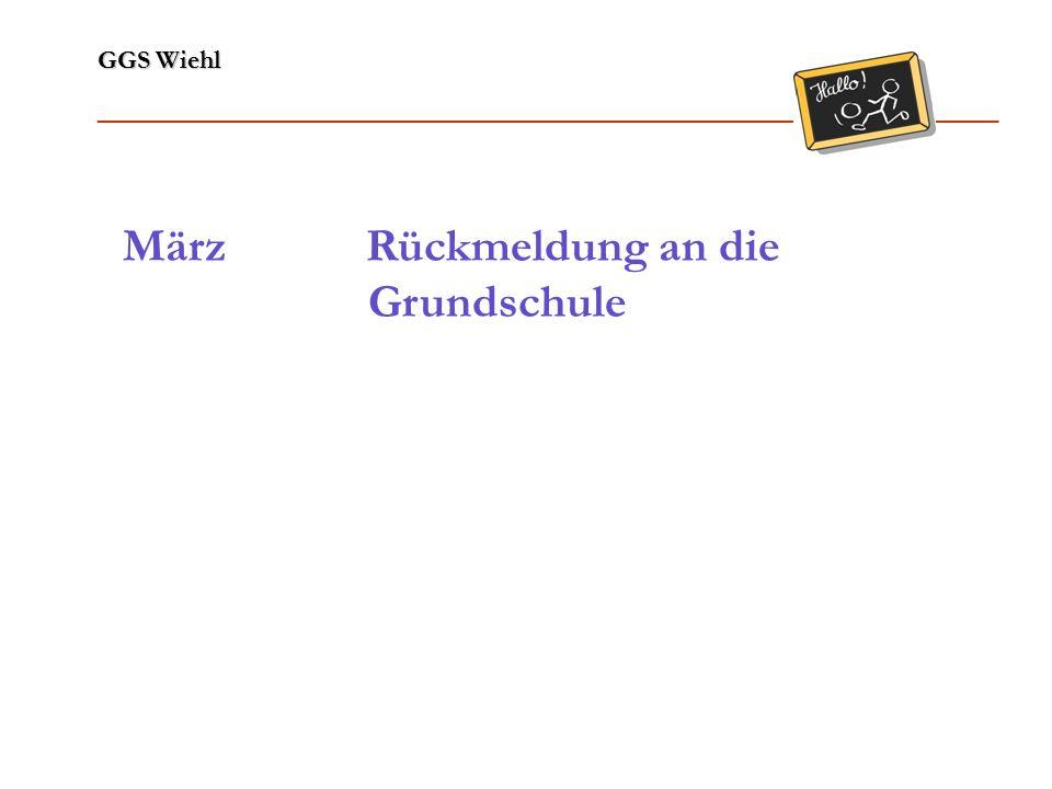 GGS Wiehl ______________________________________________________________ Lernbereiche / Fächer Religionslehre gut Sachunterricht gut Deutsch befriedigend Mathematik befriedigend Sprachgebrauch befriedigend Sport gut Lesen ausreichend Musik gut Rechtschreiben ausreichend Kunst gut Englisch befriedigend Beispiel: HS/GE