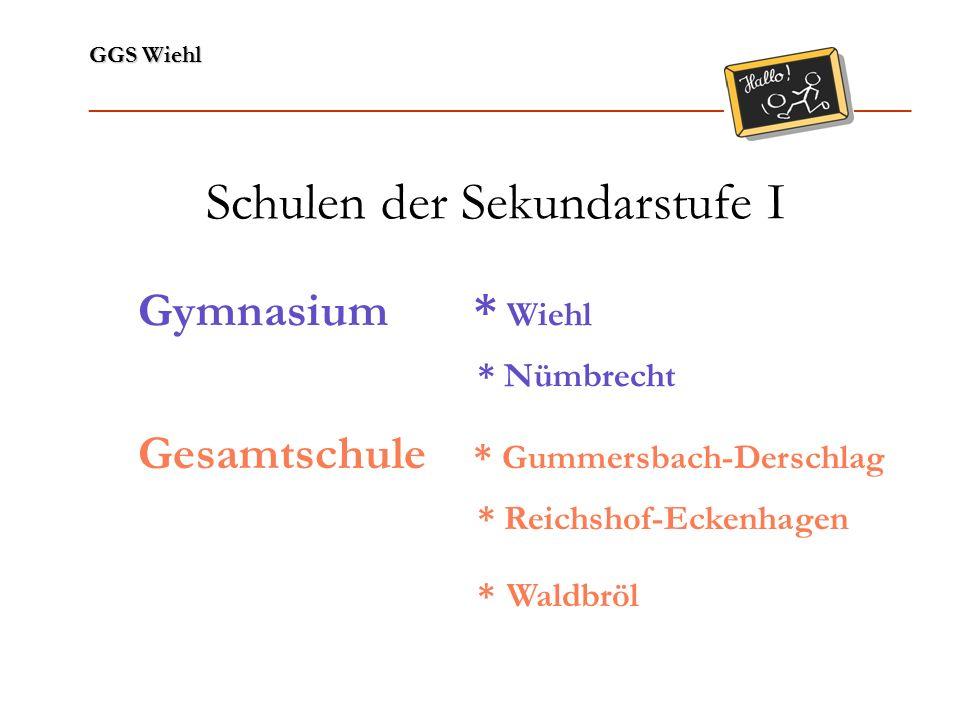 GGS Wiehl ______________________________________________________________ Sekundarschule * Wiehl-Bielstein * Nümbrecht