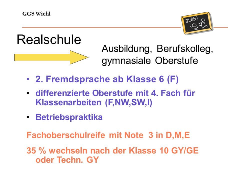 GGS Wiehl ______________________________________________________________ Gymnasium Abitur (in 8 Jahren) 2.