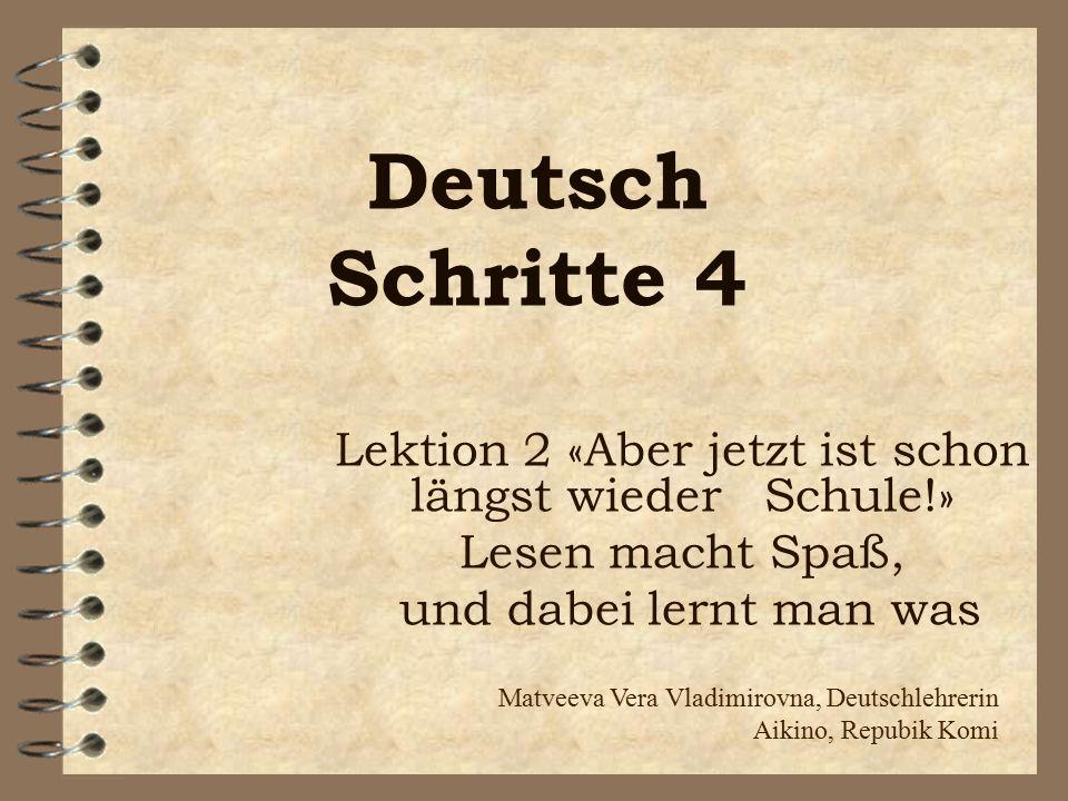 Mache die Sätze komplett 1.Die erste Waldorfschule wurde … von… gegründet.