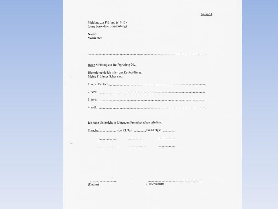 Die Oberstufe an der DSBK Besonderheiten zum Bereich C Schriftliche und mündliche Prüfung Falls zusätzlich zur schriftlichen auch eine mündliche Prüfung abgelegt wird, ergibt sich das Gesamtergebnis aus einer Tabelle.