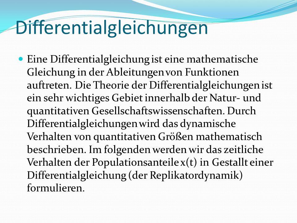 Differentialgleichungen Eine Differentialgleichung ist eine mathematische Gleichung in der Ableitungen von Funktionen auftreten.