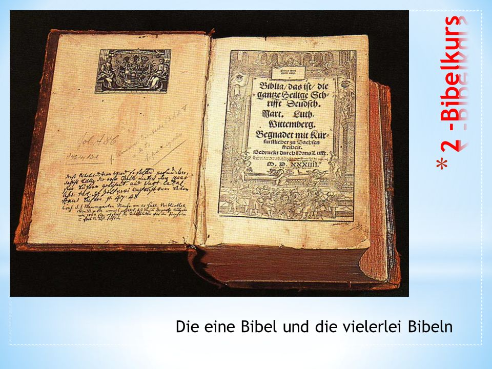 Die eine Bibel und die vielerlei Bibeln