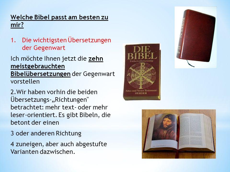 Welche Bibel passt am besten zu mir.