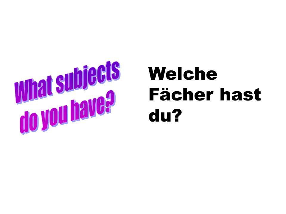 Welche Fächer hast du?