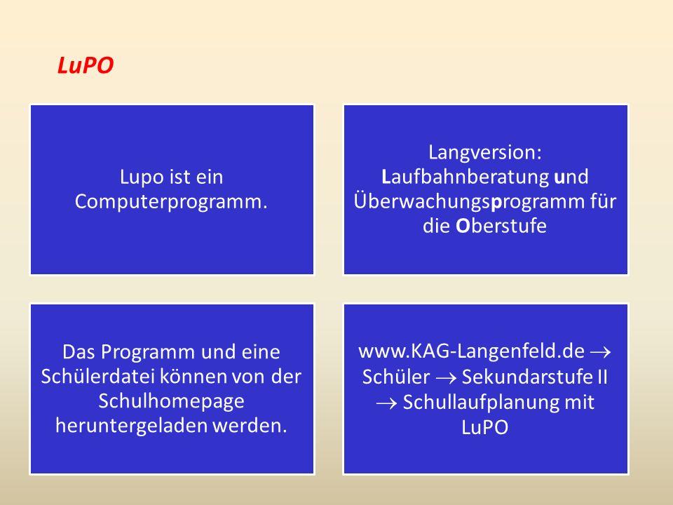 LuPO Lupo ist ein Computerprogramm.