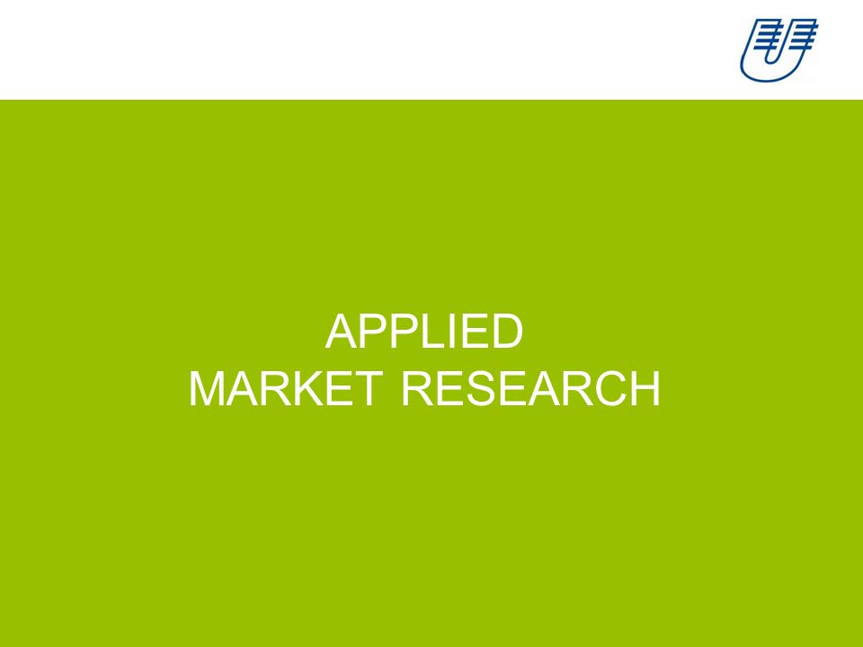 1 APPLIED MARKET RESEARCH