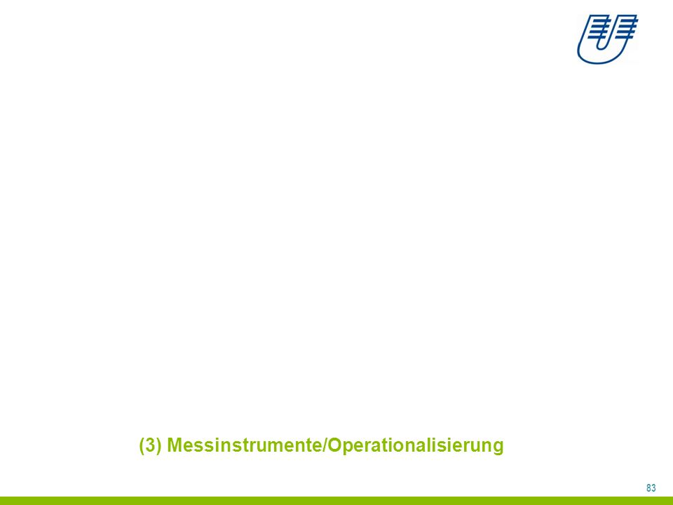 83 (3) Messinstrumente/Operationalisierung