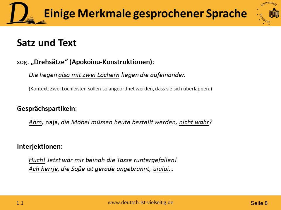 Seite 8 www.deutsch-ist-vielseitig.de 1.1 Interjektionen: Huch.