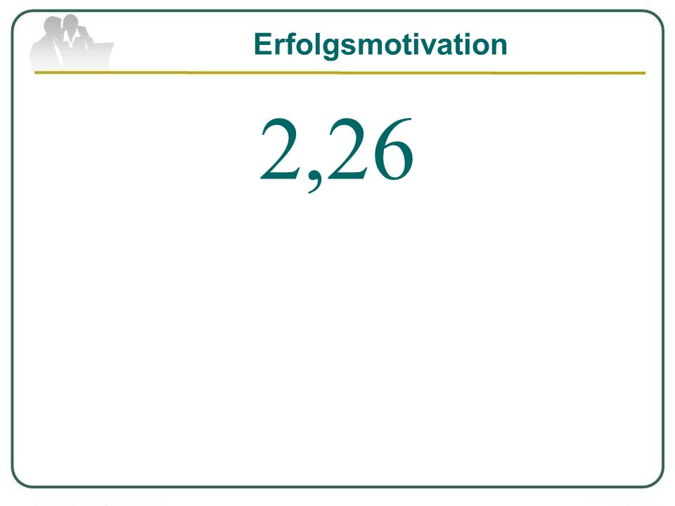 Erfolgsmotivation 2,26
