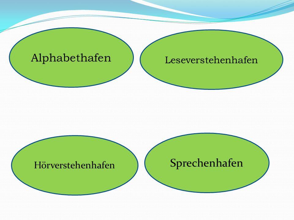 Alphabethafen Leseverstehenhafen Sprechenhafen Hörverstehenhafen