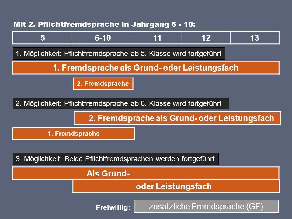 1. Fremdsprache als Grund- oder Leistungsfach 56-10111213 Mit 2.