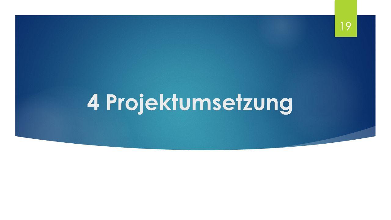 4 Projektumsetzung 19