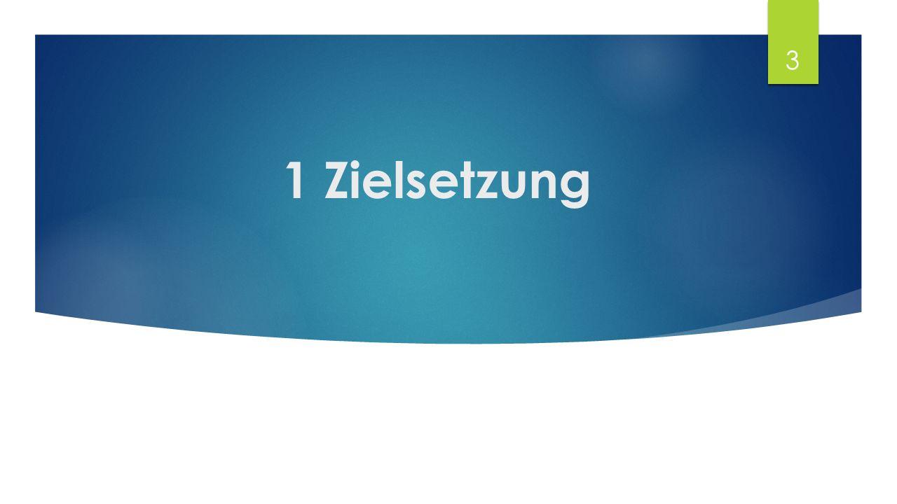 1 Zielsetzung 3