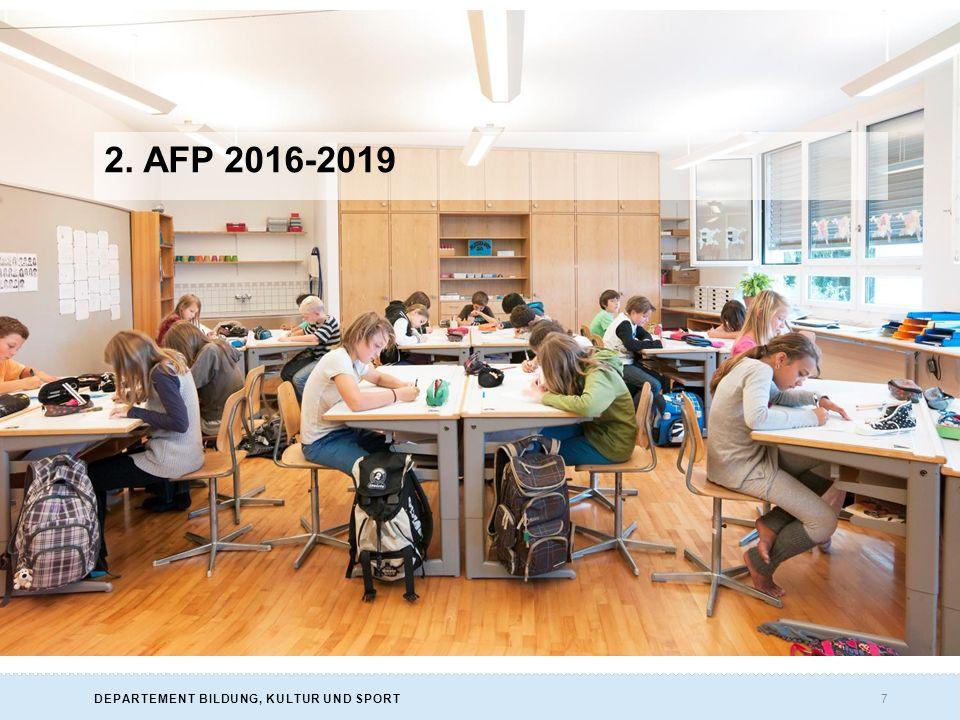 7DEPARTEMENT BILDUNG, KULTUR UND SPORT 2. AFP 2016-2019