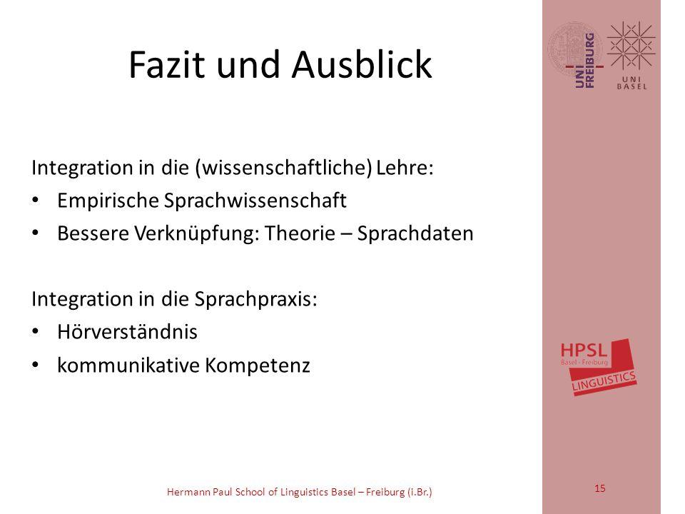 Hermann Paul School of Linguistics Basel – Freiburg (i.Br.) 102 A: así 103 (---) 104 C: cómo lo engañaron a tu papi 105 c[ómo] lo engañaron a tu papá, 106 A: [eh/] 107 cómo/ (.) 108 C: cómo lo engañoron/ 109 A: su herMAna 110 (-) 111 le: 112 pidió plata/ Spanisch: 14
