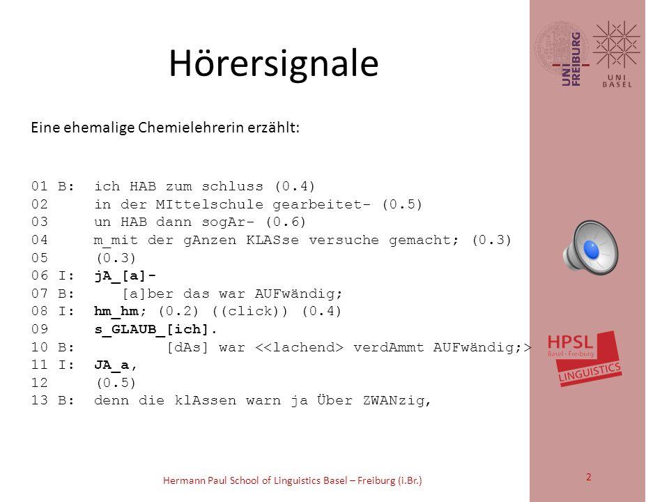 Philipp Dankel (Basel), Cynthia Dermarkar und Elke Schumann (Freiburg) Hören, lesen, analysieren Ein Lernkorpus für angehende LinguistenInnen