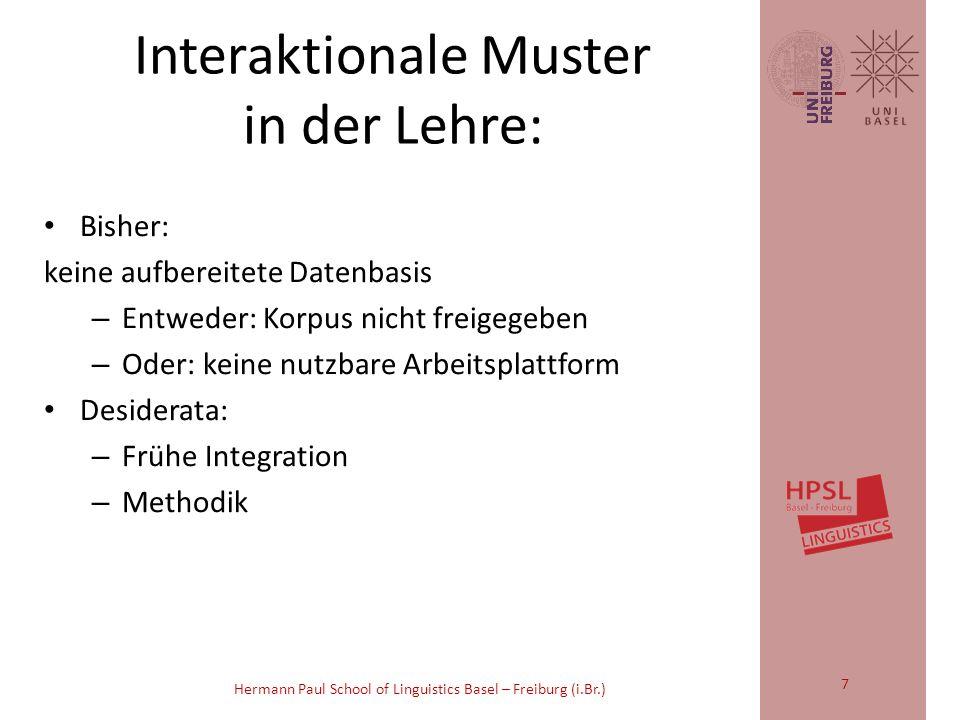 Hermann Paul School of Linguistics Basel – Freiburg (i.Br.) z.B.: Studie: Max Planck Institut für Psycholinguistik, Nijmegen: Dingemanse et la.